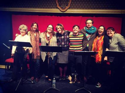 The Cast of Three Cat Productions' reading of Sunset Artists at the 2016 Chicago New Work Festival