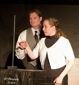 Brad Kinzel as Leon Theremin; Laura Singleton as Clara